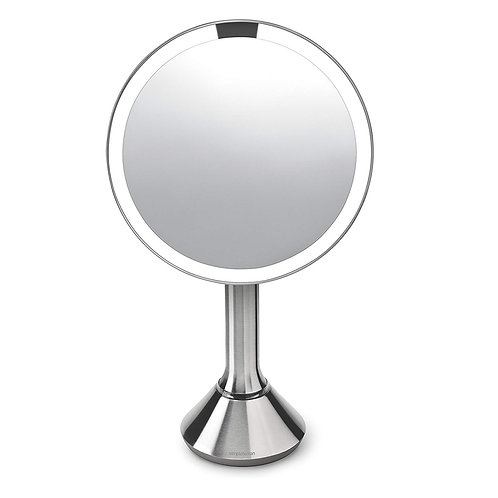 20 cm Sensor Mirror with Touch-Control Brightness in Various Colours