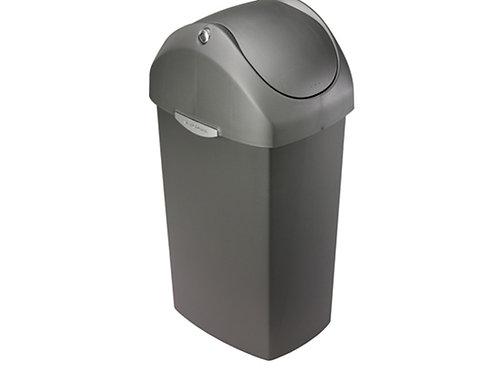 60 litre swing lid bin grey plastic