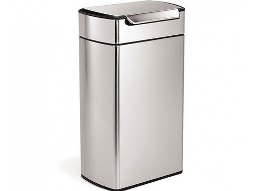 40 litre rectangular touch-bar bin fingerprint-proof stainless steel