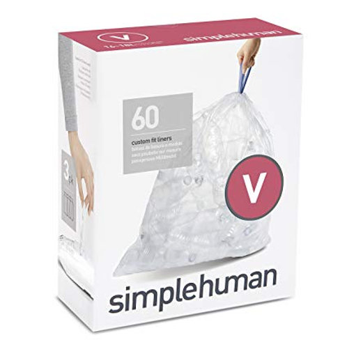 Code V Custom Fit Bin Liners, CLEAR 3 x pack of 20 (60 liners)