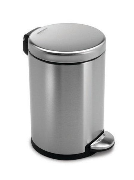 4.5 litre, Mini Round Pedal Bin, FPP Brushed Steel