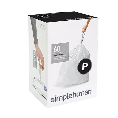 Code P Custom Fit Bin Liners, 3 x pack of 20 (60 liners)