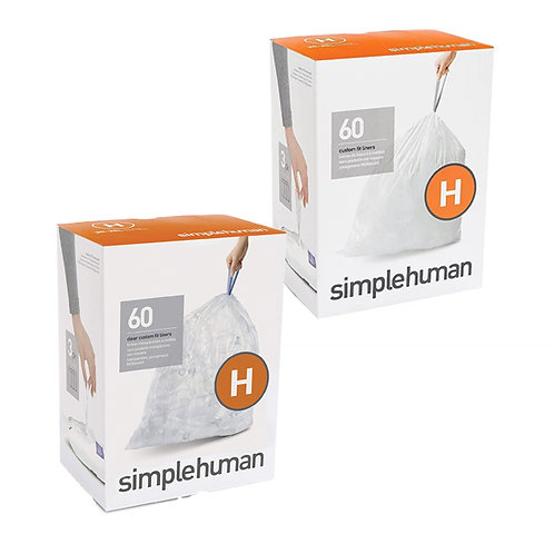 SimpleHuman 2xH packs of 60 (clear)
