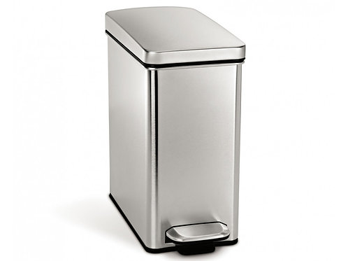 10 Litre Profile Pedal Bin Stainless Steel
