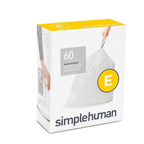Code E Custom Fit Bin Liners, 3 x pack of 20 (60 liners)