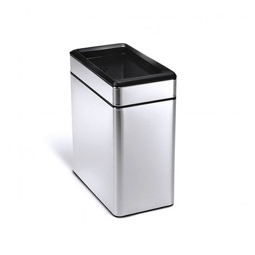 10L Single Compartment Profile Open Bin in Brushed Stainless Steel