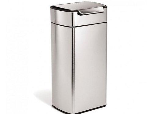 30 litre rectangular touch-bar bin fingerprint-proof stainless steel