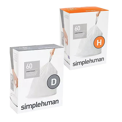 SimpleHuman H and D packs of 60