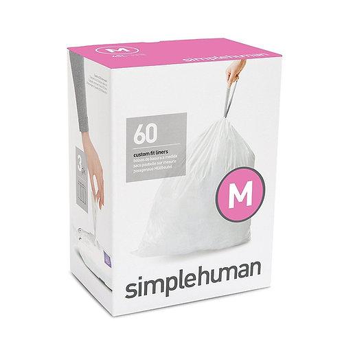 Code M Custom Fit Bin Liners, 3 x pack of 20 (60 liners)