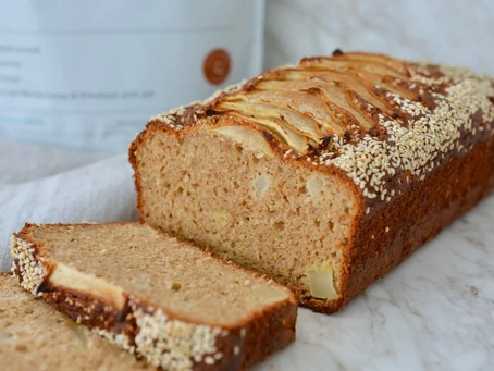 High Protein Spiced Pear And Sesame Slice