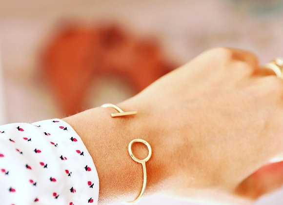 Jonc bracelet alienor plaqué or