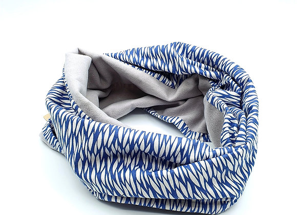 Snood Tisssu Bleu