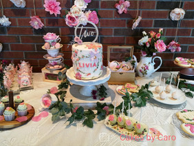 Client photo share! Dessert table by Cakes by Caro.