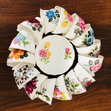 Colour wheel of teacups.