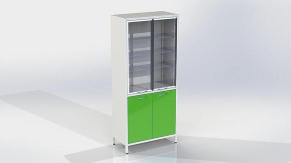 Шкаф ШМе-2см с алюминиевым профилем