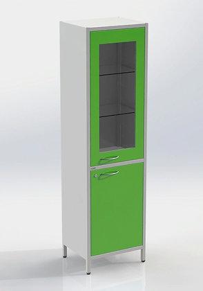 Шкаф ШМе-1см со стеклом в металлической рамке