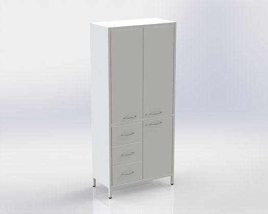 Шкаф ШМе-2мм с тремя ящиками СТАНДАРТ