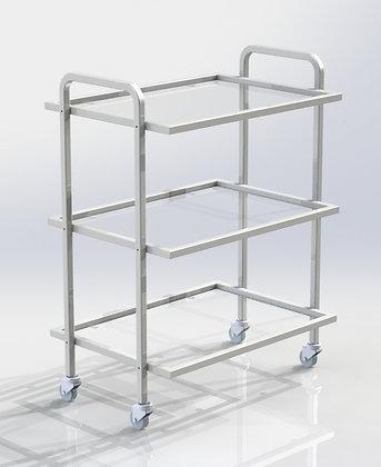 Столик СИП-3 полки стекло