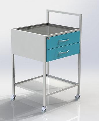 Столик СИП-2 с двумя ящиками и ручкой, полки металл СТАНДАРТ