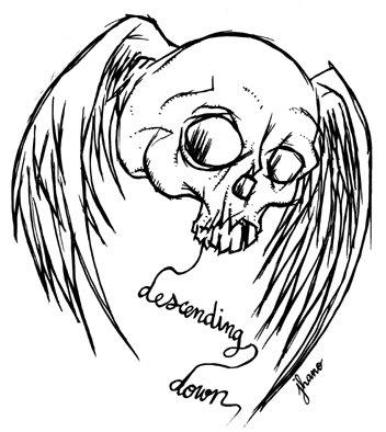 """Sérigraphie """"Descending down"""""""