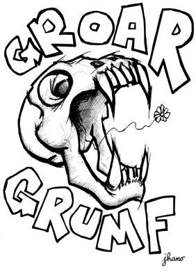 Sérigraphie Groar grumf