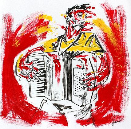Accordéoniste (dessin)