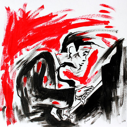 Le pianiste (dessin)