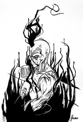 L'eau monte (dessin)