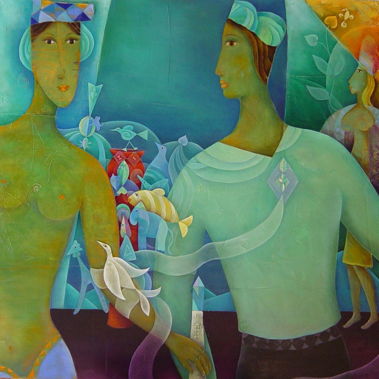 Symbole d'un rêve - 100 x 100 cm