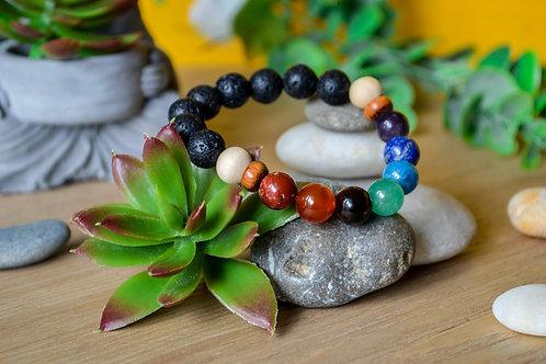 Bracelet 7 pierres - Collection Bois