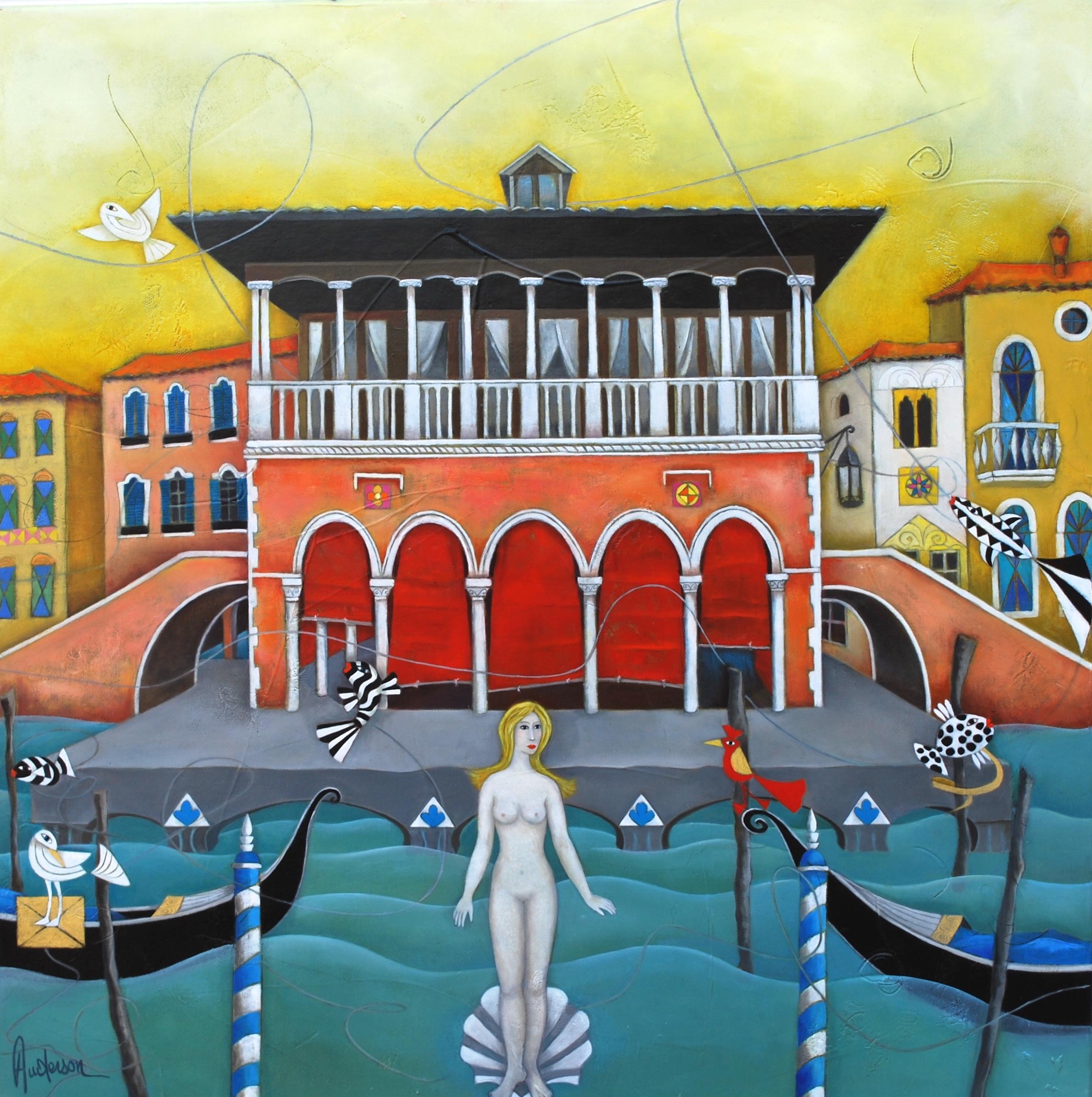 Venus à Venise - 60 x 60 cm