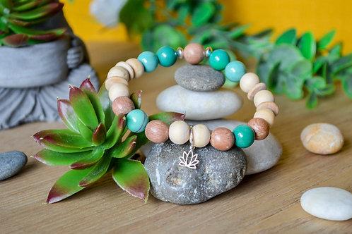 Bracelet  - Agate d'herbe