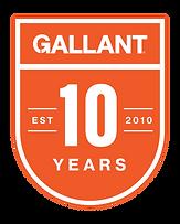 Gallant-10Year Logo Orange White Backgro