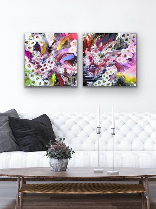 Turbulent Garden - 2 canvas panels