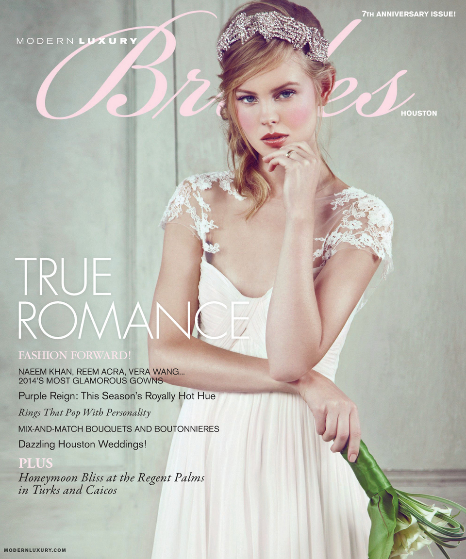 Brides Magazine Cover. JKC on PG 44