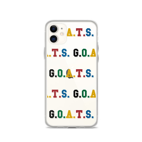 GOATS iPhone Case Clear