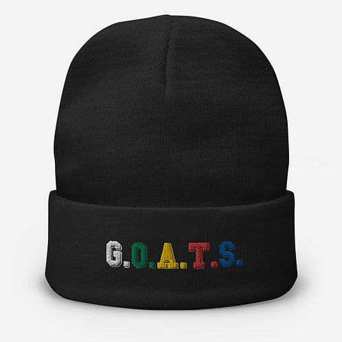 GOATS Embroidered Beanie