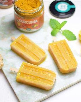 ijsjes popsicles sinaasappel citroen gem