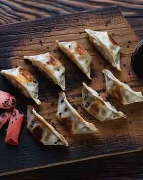 Vegetarische gyoza (dumplings)