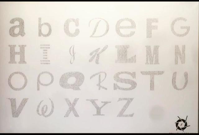 Universal Alphabet Timelaps