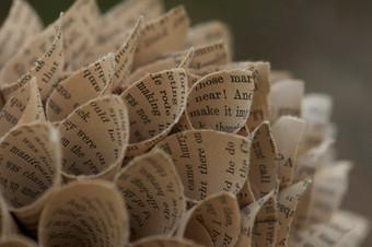 Paper blossom - detail
