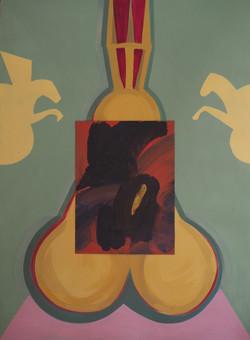 'Paper Trail', Oil on paper, 75x55cm