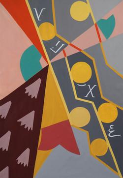 'Troodos Motifs (I), Oil on Canvas, 150x100cm