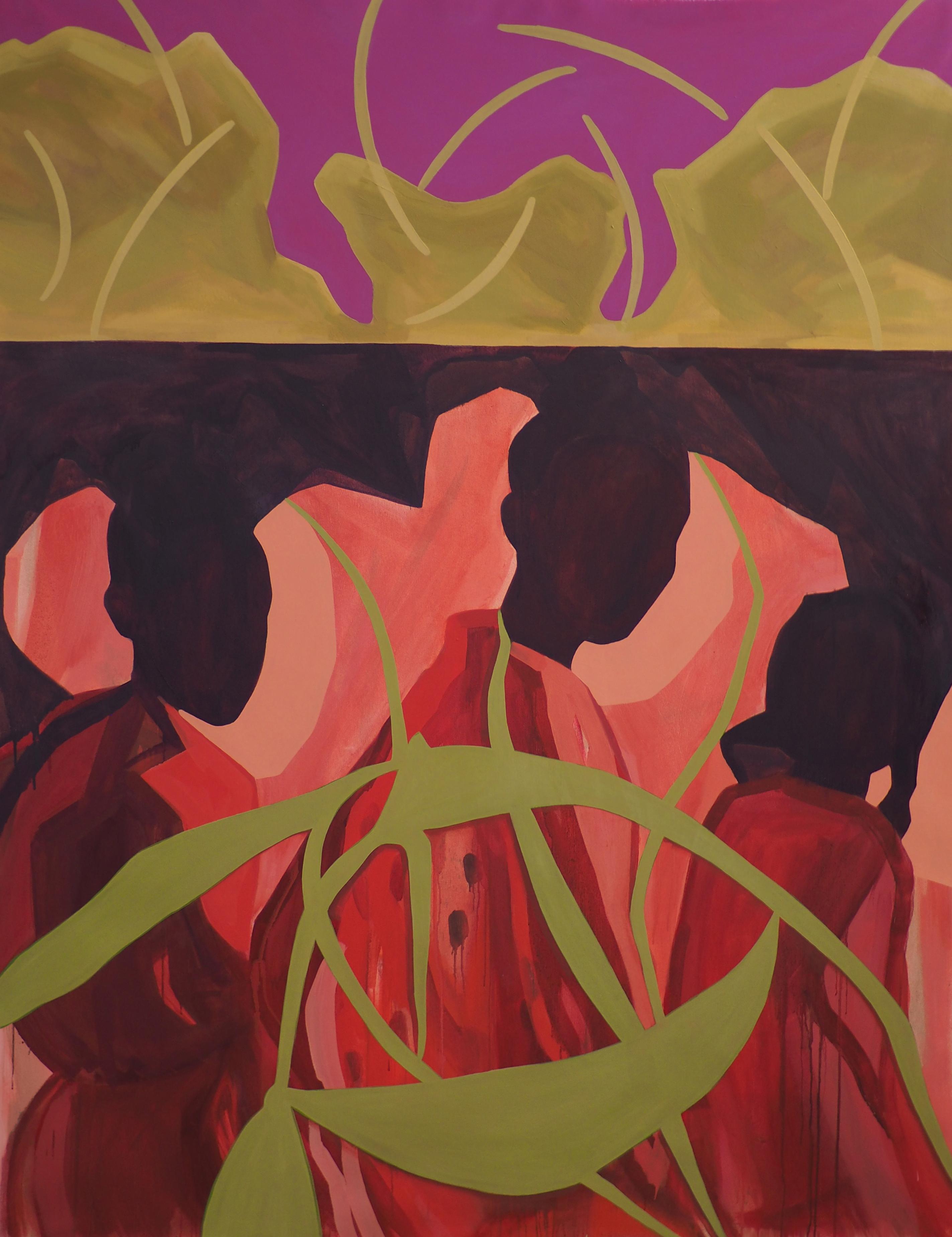 'Under the limestone crown' Oil on Canvas, 150x120cm