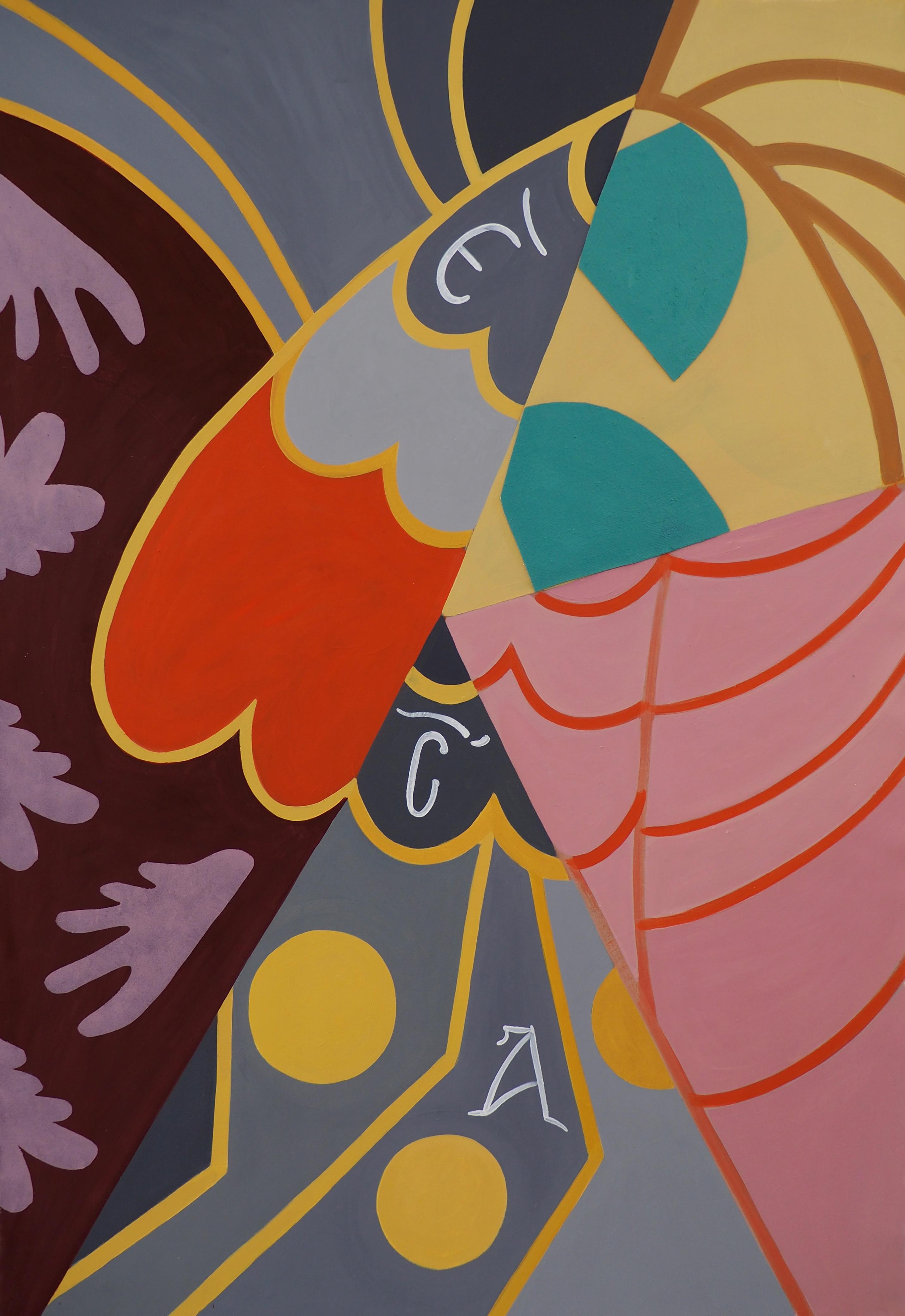 'Troodos Motifs (II), Oil on Canvas, 150x100cm