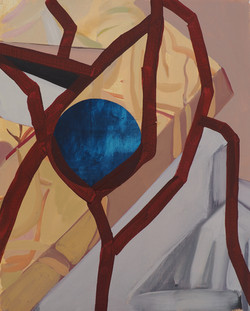 'The moon of divine madmen', Oil on Linen, 55x45cm