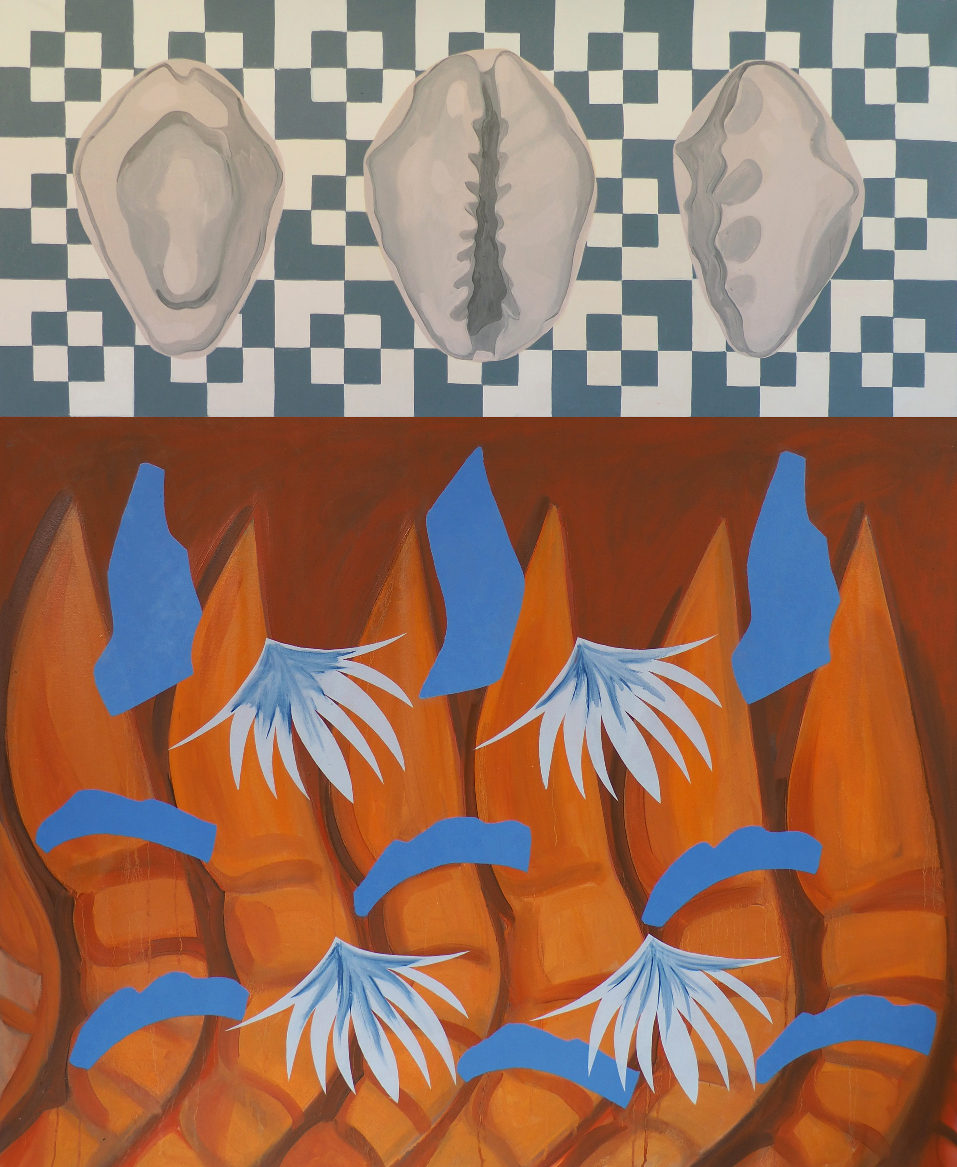 'Trapped in a shell', Oil on Canvas, 150x120cm