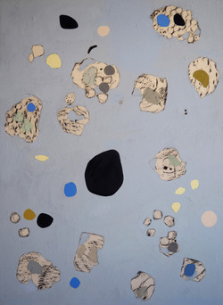 'Blue-composition II', Oil on canvas, 140x100cm