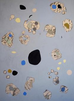 'Blue-composition II', Oil on canvas, 140x100cm