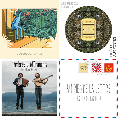 Pack Discographie (4 CD + 12 cartes postales)